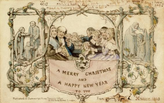 Victorian Christmas Card 1