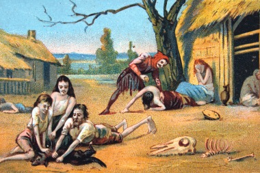 Famine in the Middle Ages, (19th century).