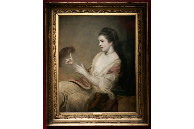 A portrait of Kitty Fisher by Sir Joshua