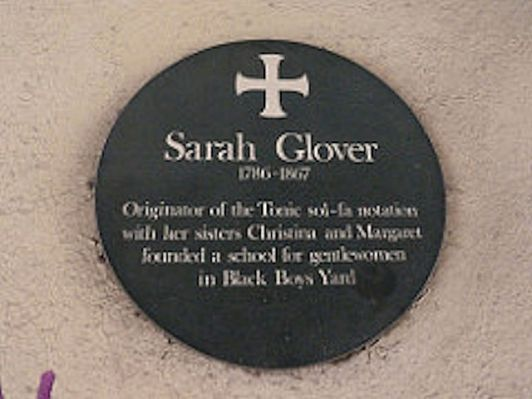 Sarah Ann Glover (Plaque)