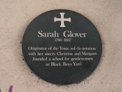 Sarah Ann Glover (Plaque)