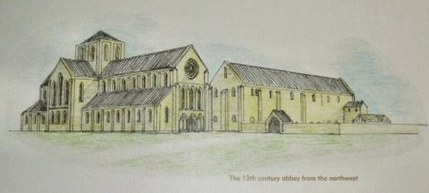 Langley Abbey (Drawing)