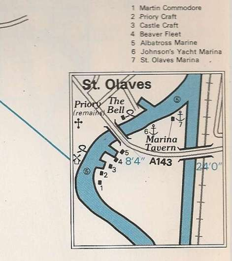 St Olaves Map