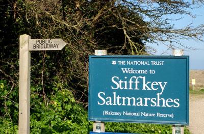 Stiffkey (Saltmarsh-Sign)