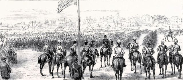 Norfolk Militia (P of W reviewing troops)2