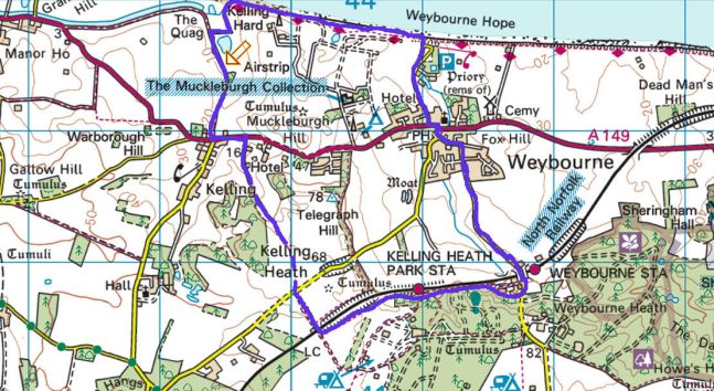 Weybourne Walk (Route Map)2