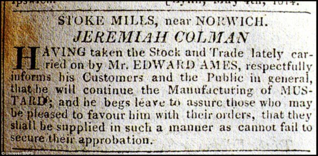 Mustard Revolution (Advert May 7th 1814)