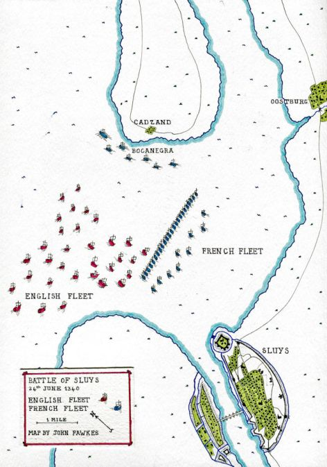 Battle of Sluys (Map)