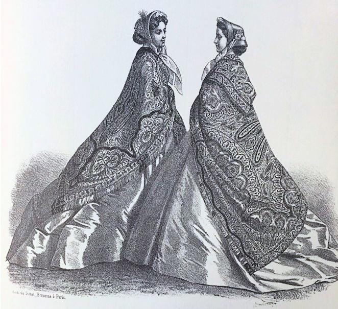 Norwich Shawls (1865 Fashion )1