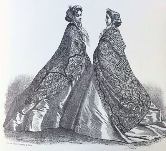Norwich Shawls (1865 Fashion )1