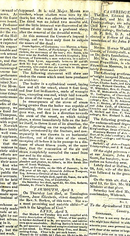 River Wensum (19th C Newspaper)