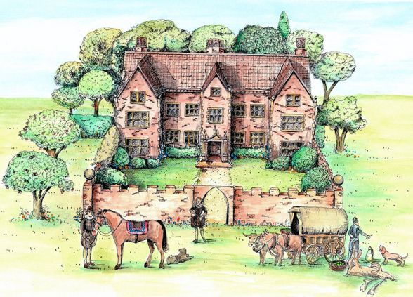 Godwick (Drawing of Manor)