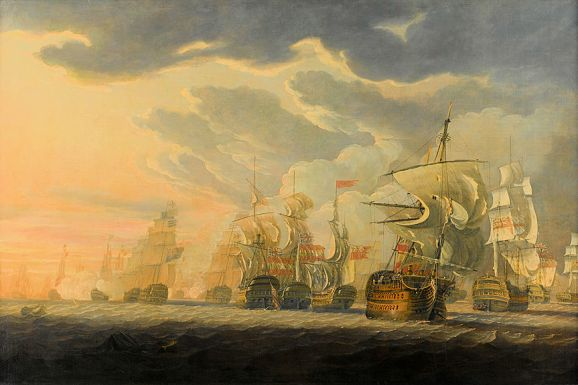 Hoste (Battle of Cape_St_Vincent_Robert_Cleveley)