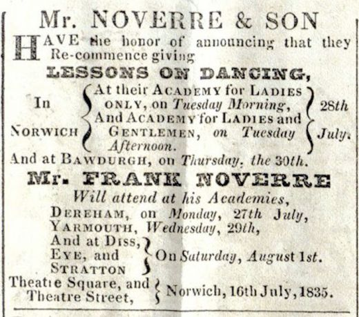 Noverre & Norwich Union (Dance Lessons)