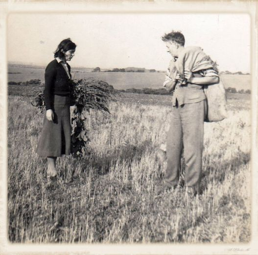 1_ early days_Loetitia and HW survey the thistles2