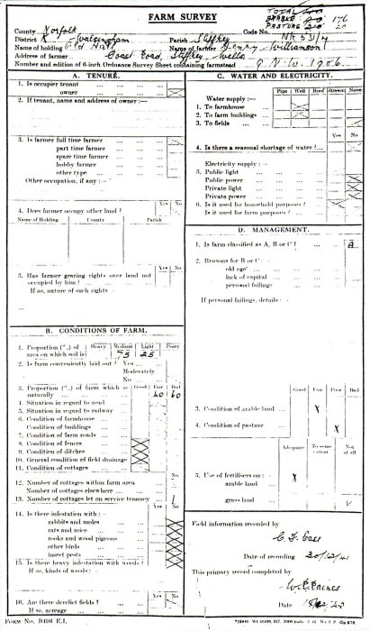 7_ Farm Survey, classed as 'A'