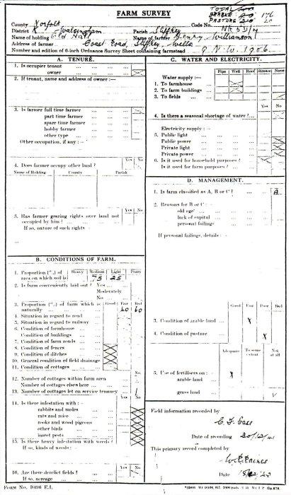 7_ Farm Survey, classed as 'A'