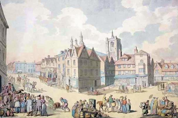 Cloudesley (Market_Place,_Thomas_Rowlandson 1788). Image Wikiwand