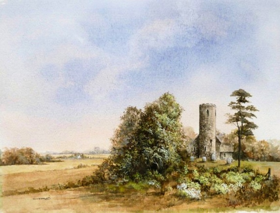 Fishley Church (Jenny-Haylett-watercolour_Tudor Galleries)