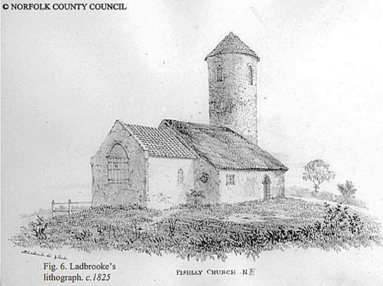 Fishley Church (Litho_1825_NCC)