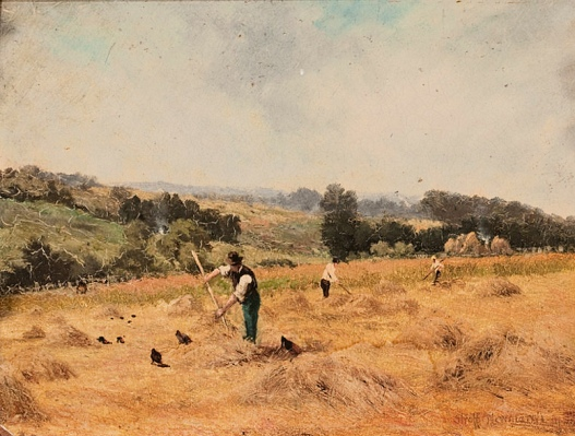 Agricultural Gangs (Farmers on a Hillside_STRAFFORD NEWMARCH_Public Domain)