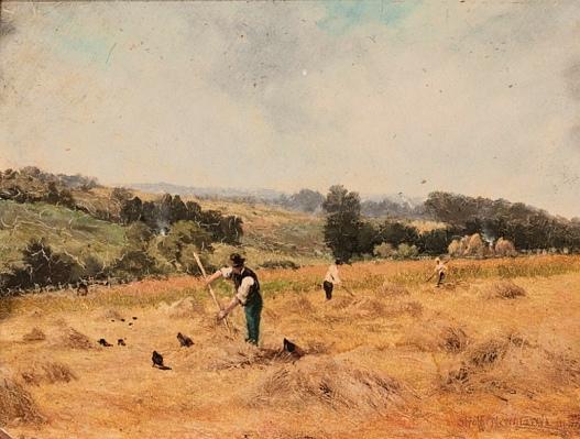 Agricultural Gangs (Farmers on a Hillside_STRAFFORD NEWMARCH_Public Domain)