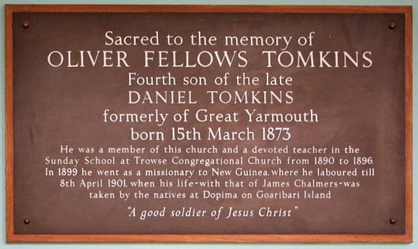 Oliver Fellow Tomkins(Plaque)